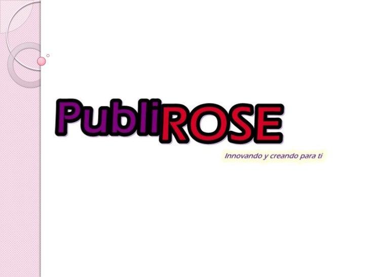 Ppt publirose