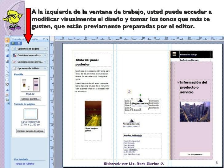 Resultado de imagen para publisher folletos