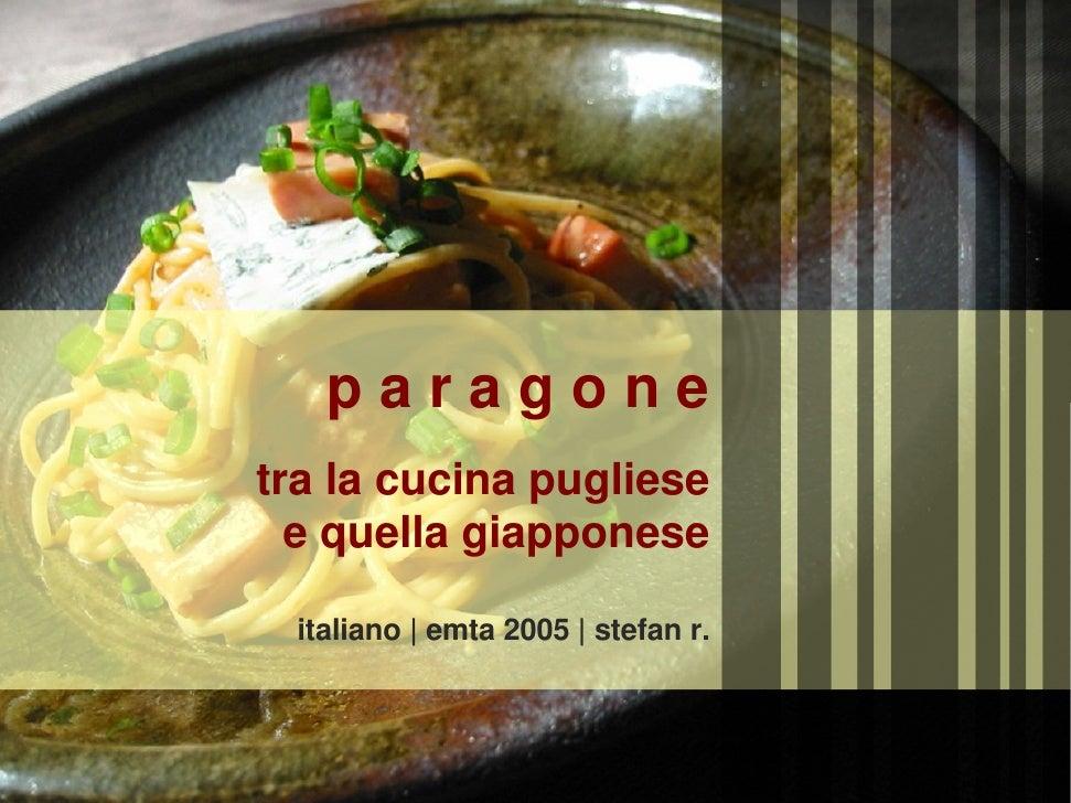 puglian vs japanese cuisine