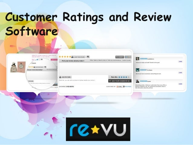 Customer Ratings and ReviewSoftware