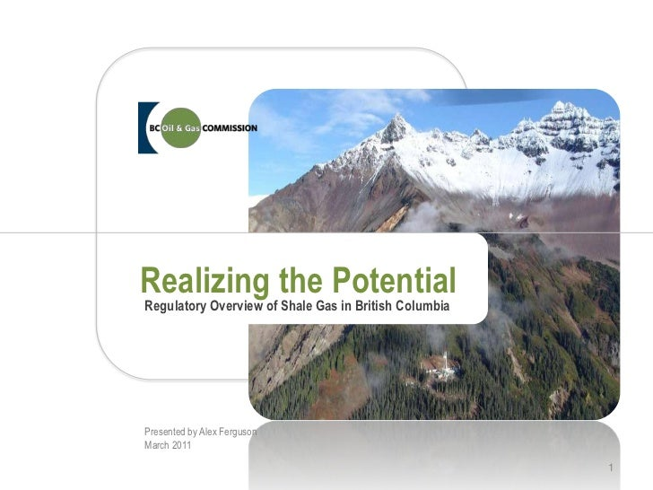 Realizing the Potential<br />Regulatory Overview of Shale Gas in British Columbia<br />Presented by Alex Ferguson<br />Mar...