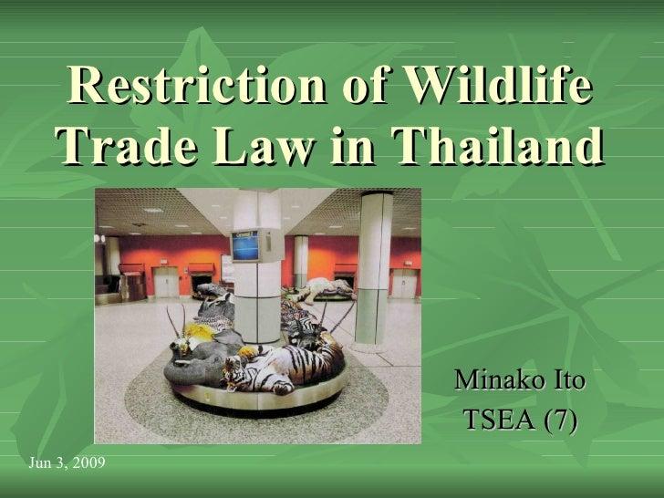 Ppt Restriction Wildlife Law2