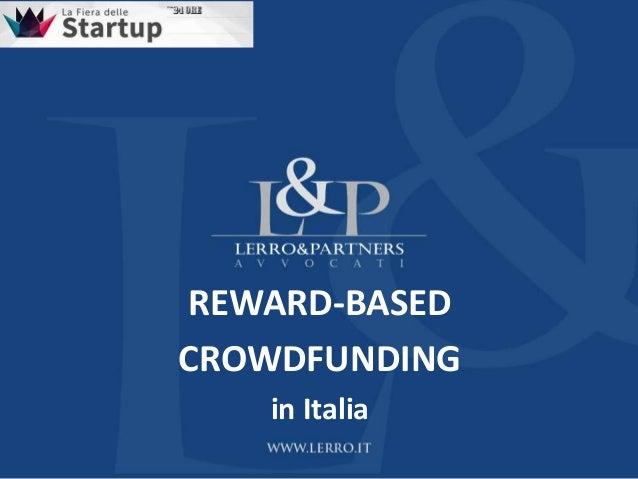 REWARD-BASEDCROWDFUNDINGin Italia