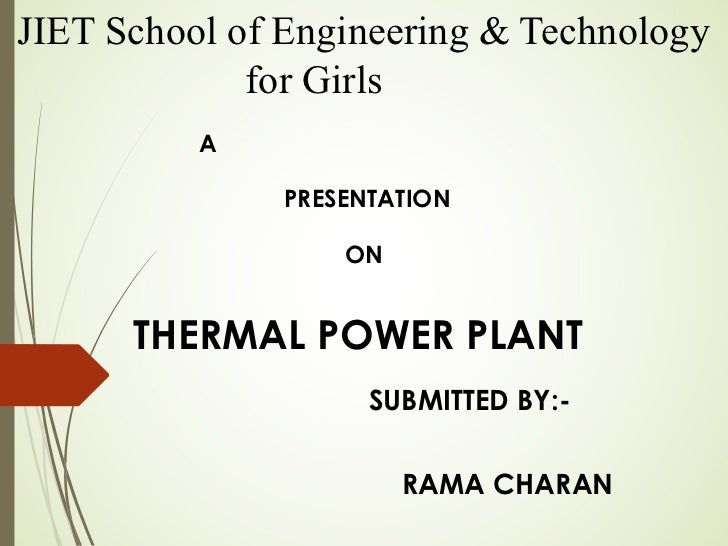 presentation of thermal power plant By ramanathanr/ap/eee unit-1 thermal power plant thermal power plant turbine cross section view of turbines cooling towers working block diagram of thermal power plant unit-2 hydro electric power.