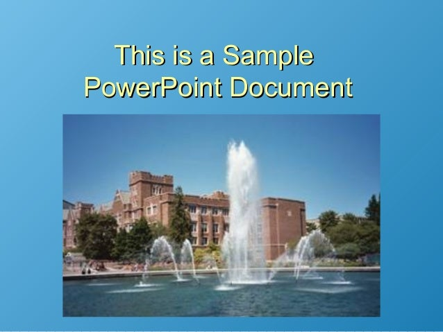 This is a SampleThis is a SamplePowerPoint DocumentPowerPoint Document