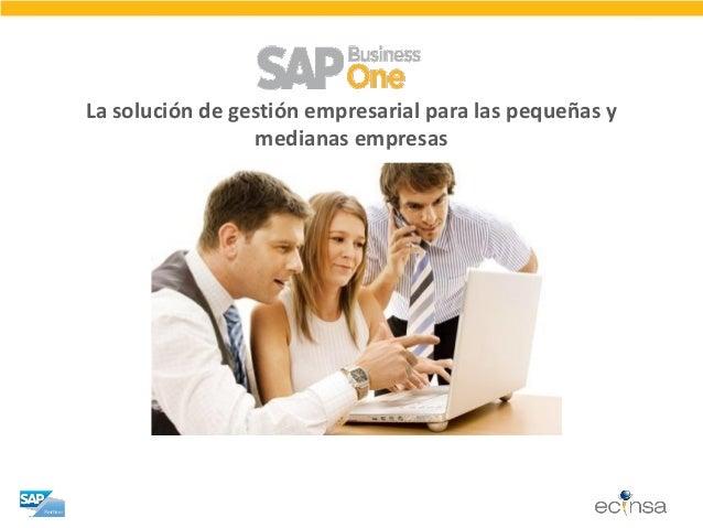 La solución de gestión empresarial para las pequeñas y medianas empresas