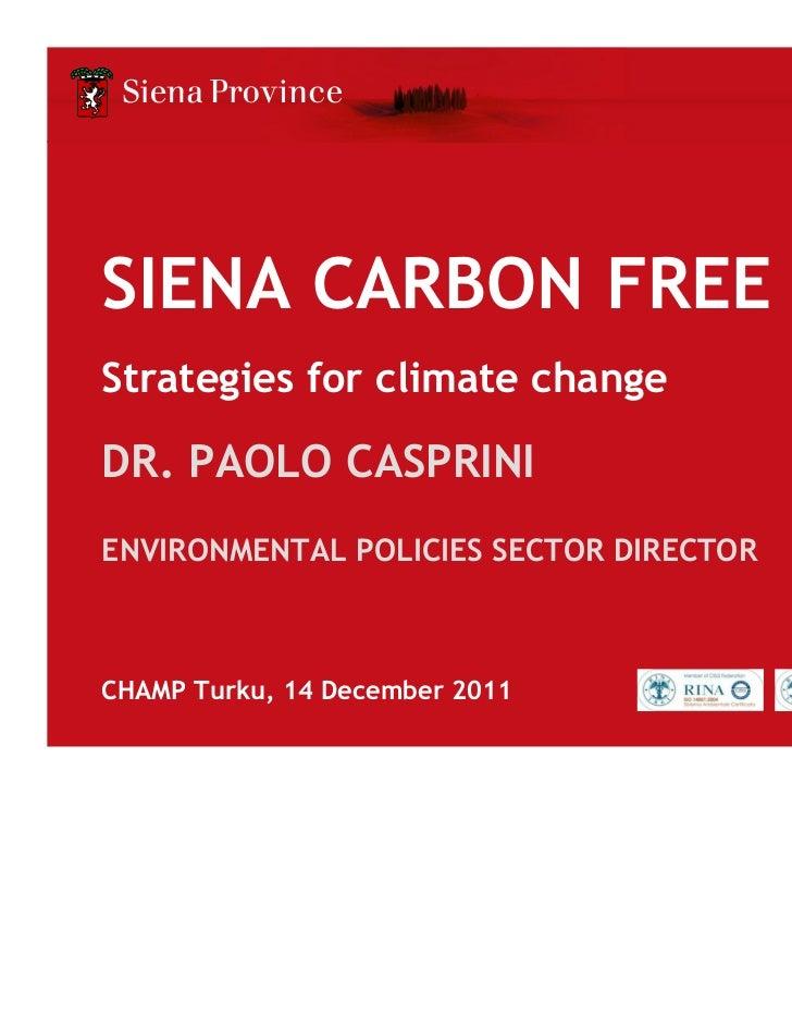 Siena: Carbon Free 2015