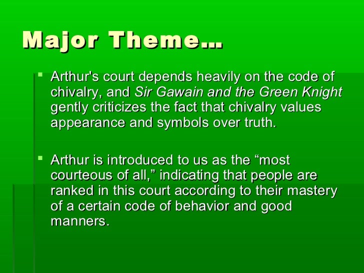 chivalry essay sir gawain Sir gawain and the green knight is a well-known middle english romantic poem, which was written in the 14th century the poet who penned down this the characteristics, the virtues of chivalry that are represented by the pentangle and sir gawain's attempts in order to fulfill those characteristics would.