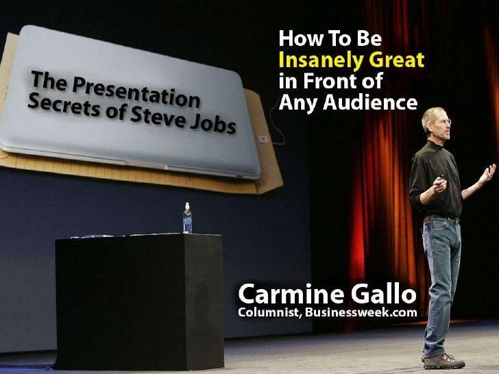 Steve Jobs y sus presentaciones en público
