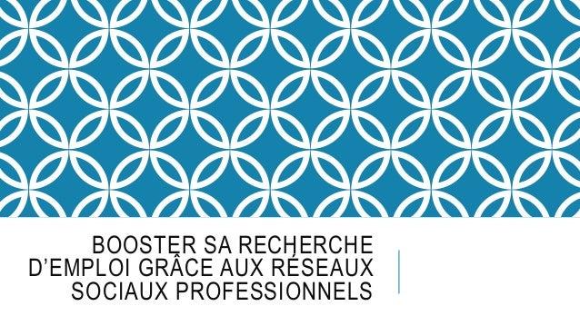BOOSTER SA RECHERCHE D'EMPLOI GRÂCE AUX RÉSEAUX SOCIAUX PROFESSIONNELS