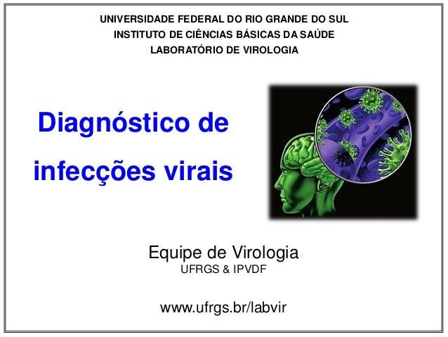 UNIVERSIDADE FEDERAL DO RIO GRANDE DO SUL INSTITUTO DE CIÊNCIAS BÁSICAS DA SAÚDE LABORATÓRIO DE VIROLOGIA Equipe de Virolo...