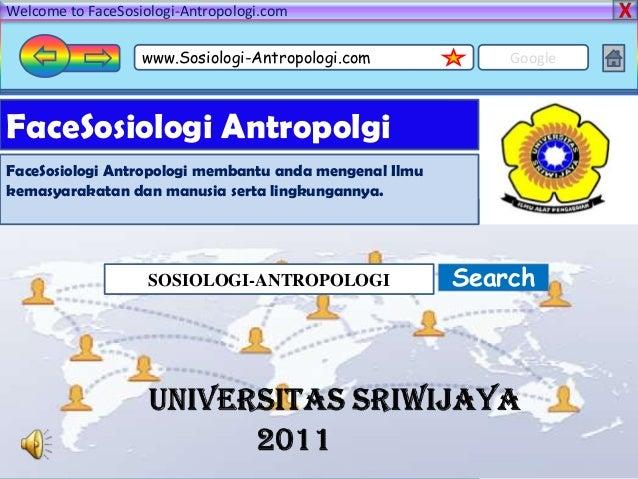 Ppt sosiologi antropologi