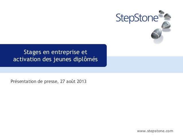 www.stepstone.com Présentation de presse, 27 août 2013 Stages en entreprise et activation des jeunes diplômés