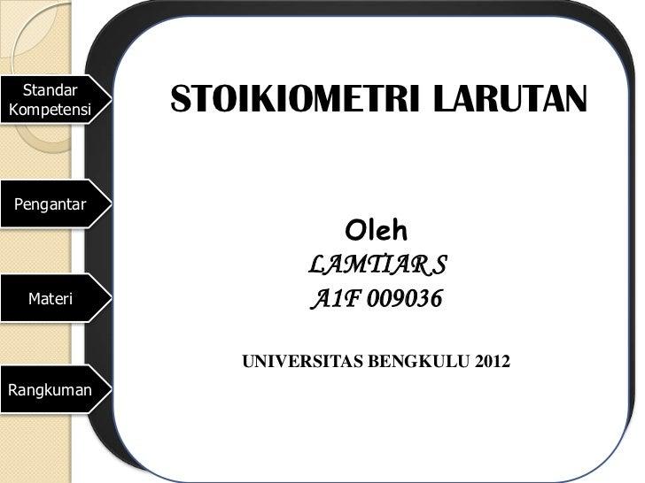Ppt stoikiometri larutan