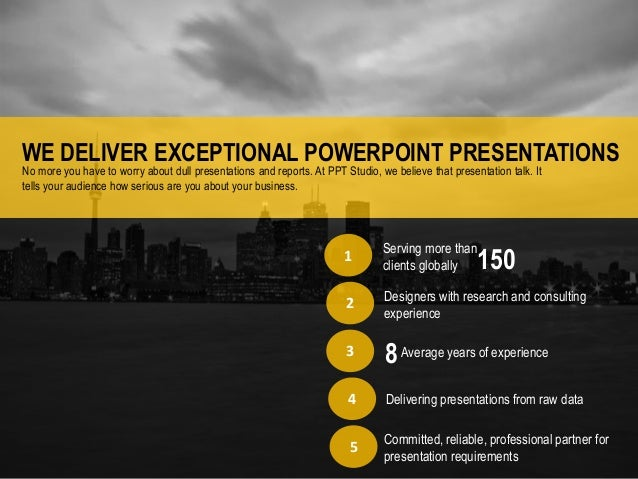 Powerpoint presentations services