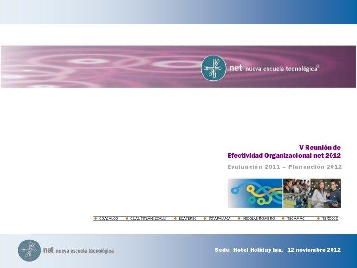 V Reunión de                                                   Efectividad Organizacional net 2012                        ...
