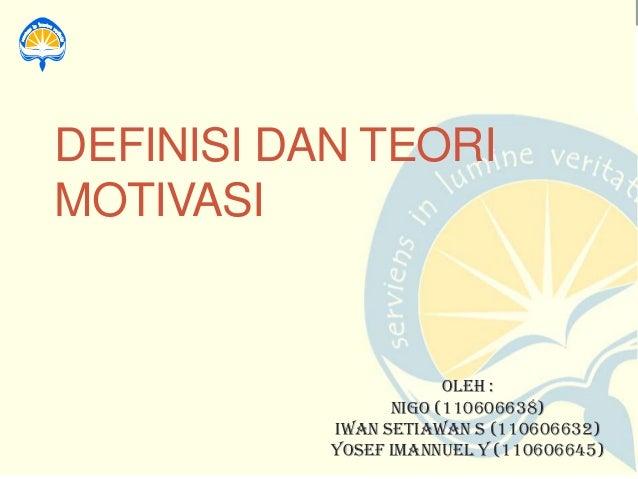 Teori motivasi_Psikologi Industri