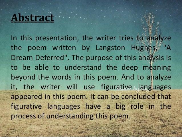 dreams in langston hughes poems essay