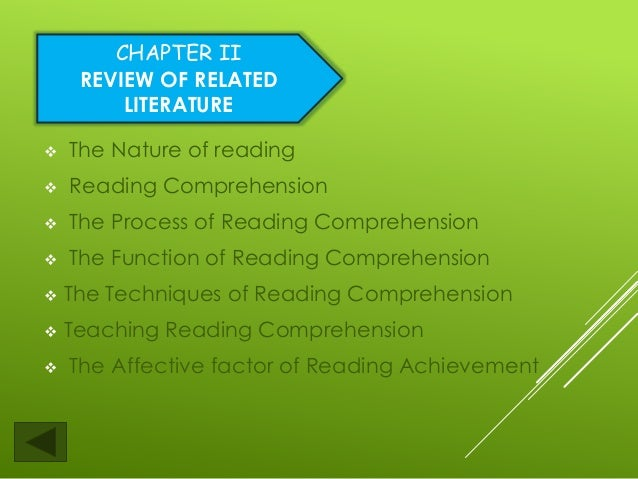 Factors affecting reading comprehension thesis