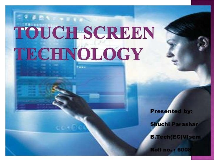 Ppt Touch Screen Sensor12