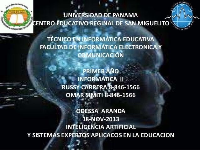 UNIVERSIDAD DE PANAMA CENTRO EDUCATIVO REGINAL DE SAN MIGUELITO TÉCNICO EN INFORMÁTICA EDUCATIVA FACULTAD DE INFORMÁTICA E...