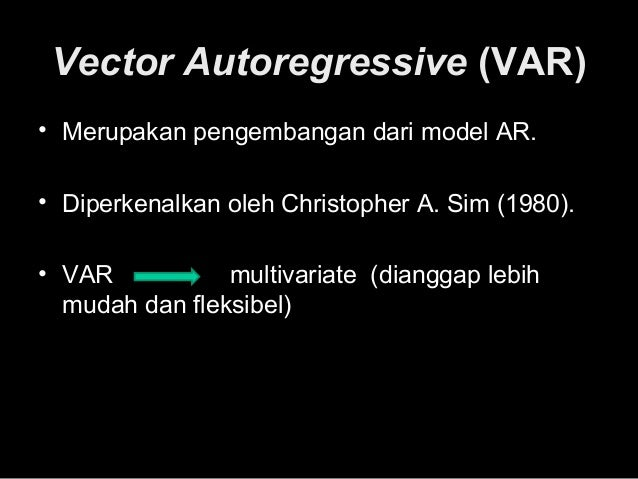 vector autoregressions 'the book by kilian and lütkepohl will become the new benchmark textbook for teaching structural vector autoregressive analysis this book thus devotes considerable space to the issue of identification, including sign restrictions, to bayesian methods, to factor vector autoregressions and to non-fundamental shocks.