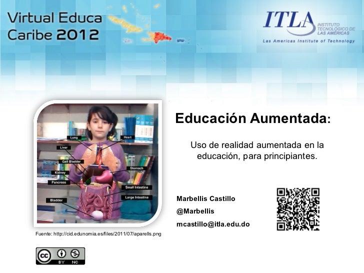 Educación Aumentada:                                                                Uso de realidad aumentada en la       ...