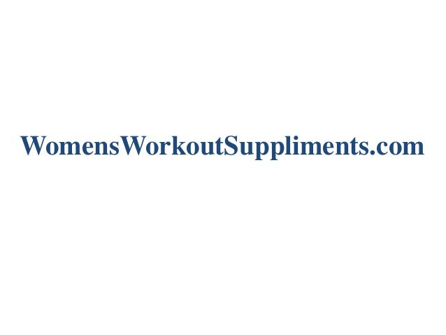 WomensWorkoutSuppliments.com