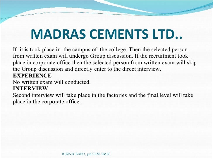 osr at madras cements limited Worked with nco europe limited for 1 year 11 months as senior  deeptiosr@gmailcom ca final  4 month internship in the india cements limited.