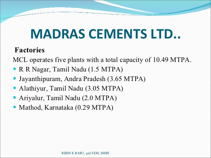 osr at madras cements limited The average salary for madras cements limited employees is rs 525k per  year visit payscale to research madras cements limited salaries,.