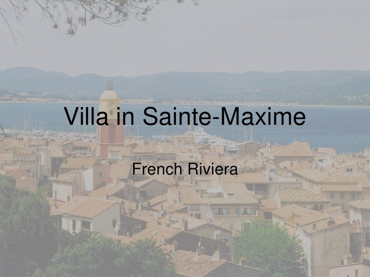 Villa in Sainte-Maxime<br />French Riviera<br />