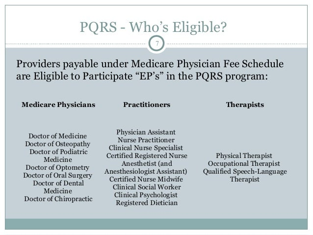 PQRS - Avoiding the Penalties?