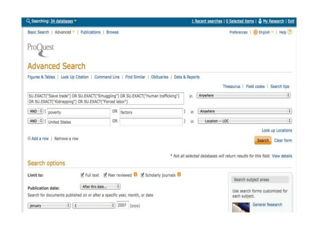 ProQuest Search