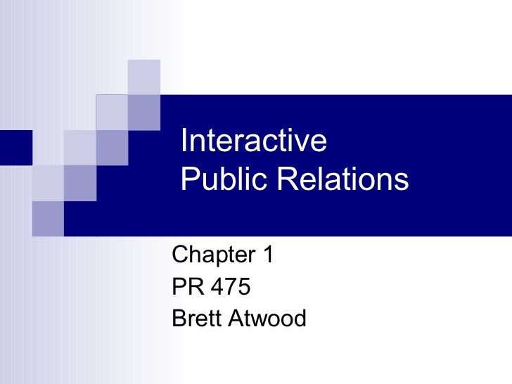 PR 475 - Introduction to Interactive PR