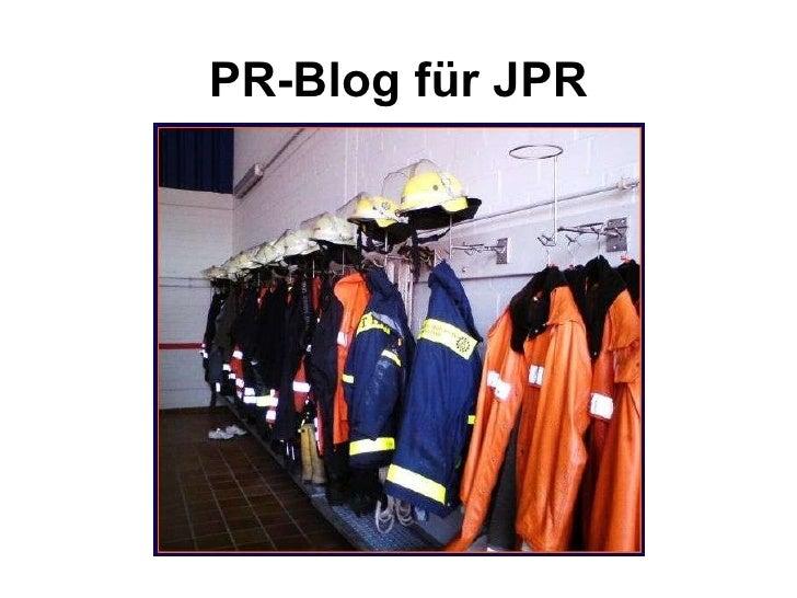 PR-Blog für JPR