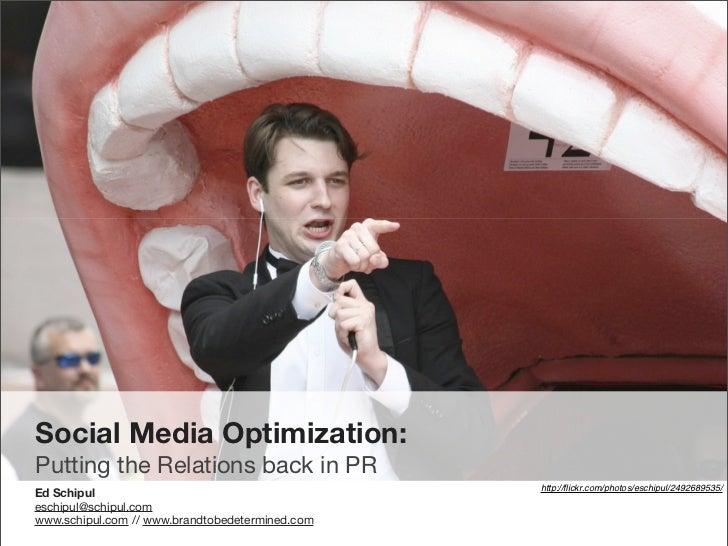 Strategic PR with Social Media
