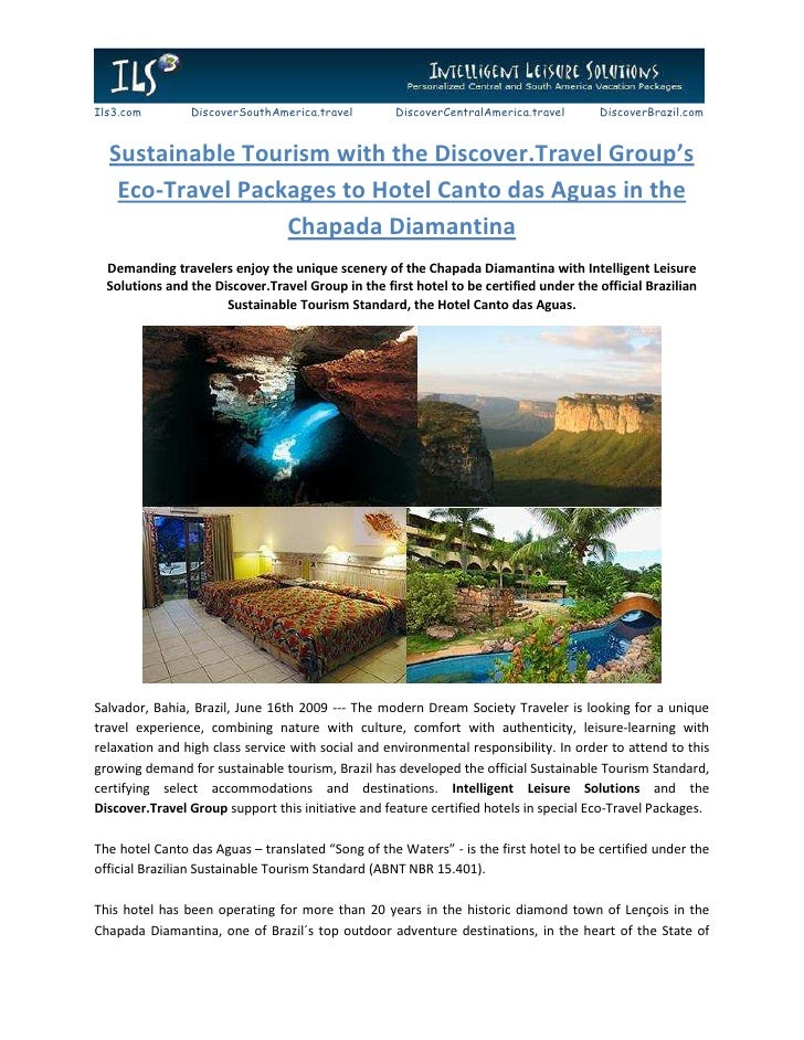 Sustainable Tourism with the Discover.Travel Group's Eco-Travel Packages to Hotel Canto das Aguas in the Chapada Diamantina