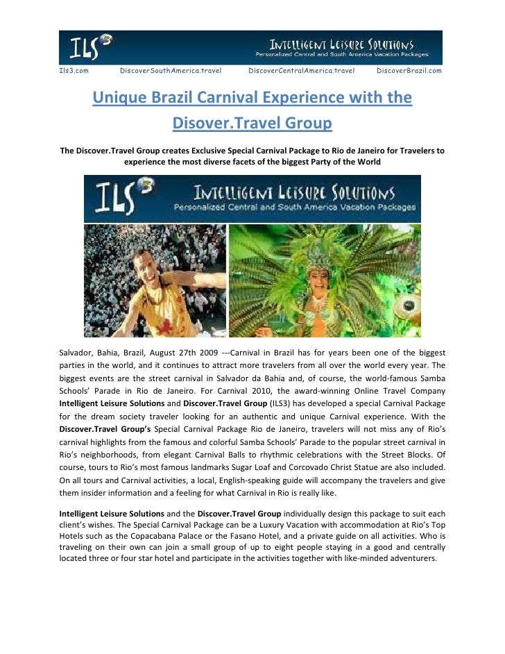 Unique Brazil Carnival Experience with the Disover.Travel Group