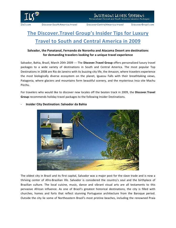 The Discover.Travel Group's Insider Tips for Luxury Travel to South and Central America
