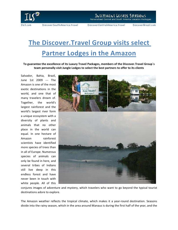 The Discover.Travel Group visits select Partner Lodges in the Amazon