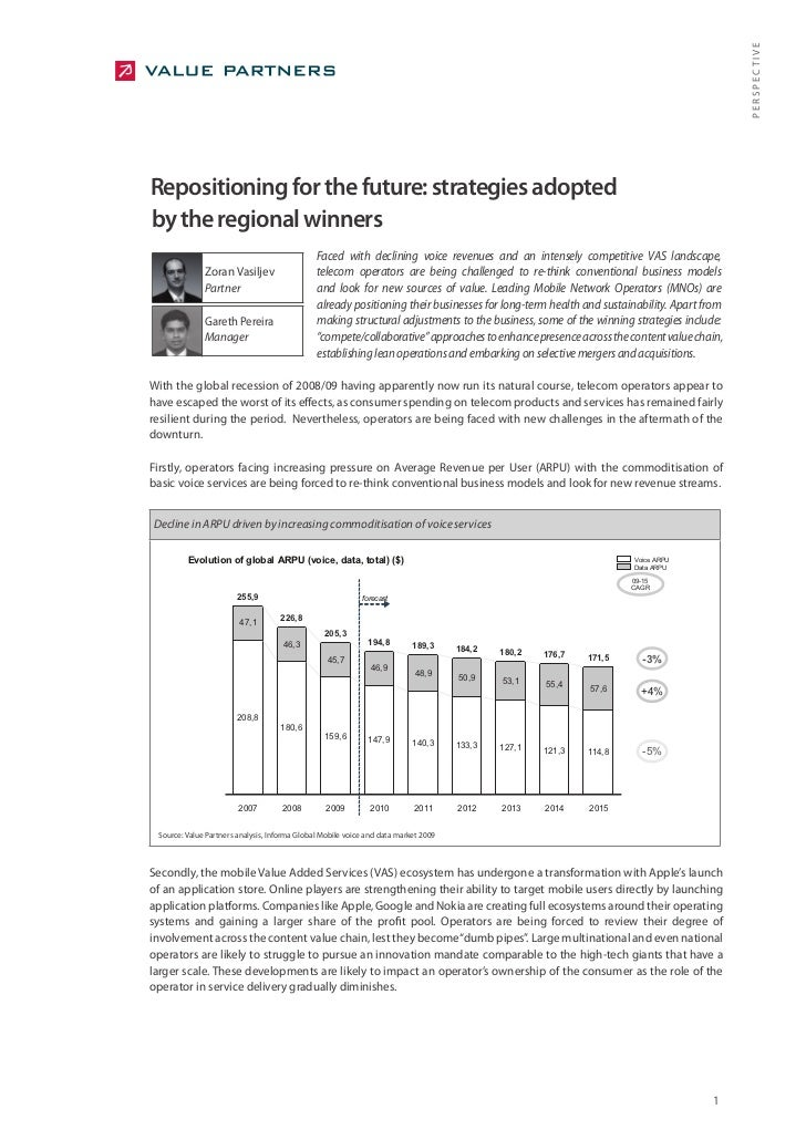 PERSPECTIVE Repositioning for the future: strategies adopted by the regional winners                                      ...