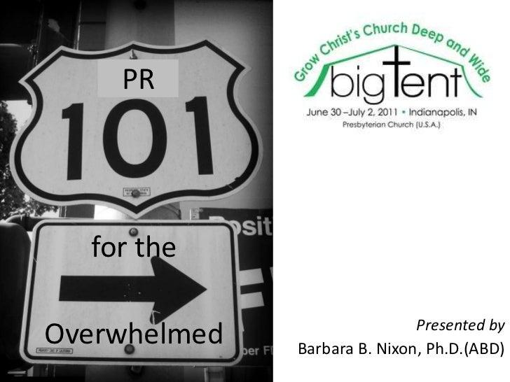 PR 101 for the Overwhelmed