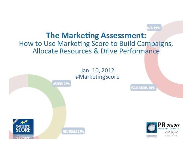 The Marketing Assessment