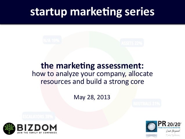 the	  marke)ng	  assessment:	  how	  to	  analyze	  your	  company,	  allocate	  resources	  and	  build	  a	  strong	  co...