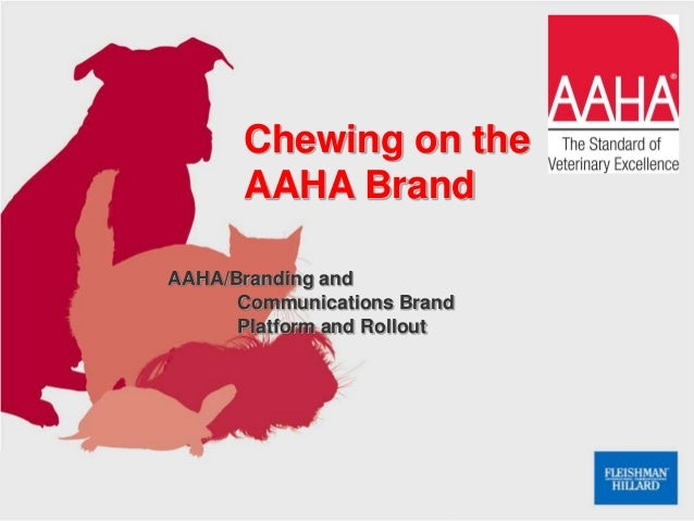 AAHA/Branding and Communications Brand Platform and Rollout Chewing on the AAHA Brand