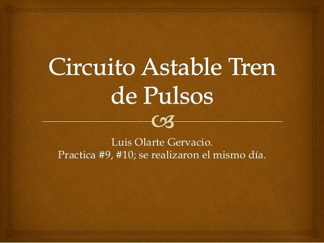 Luis Olarte Gervacio. Practica #9, #10; se realizaron el mismo día.