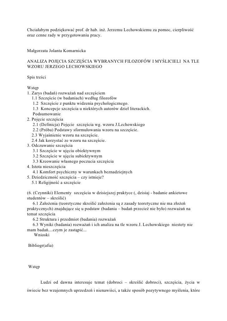 Praca Magisterska MałGorzaty Komarnickiej W MięDzynarodowej Akademii Nauk San M Arino