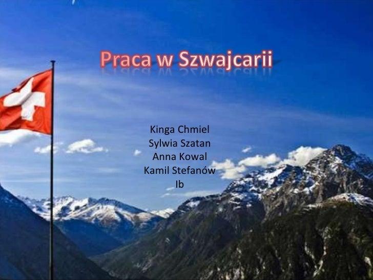 Szwajcaria - praca