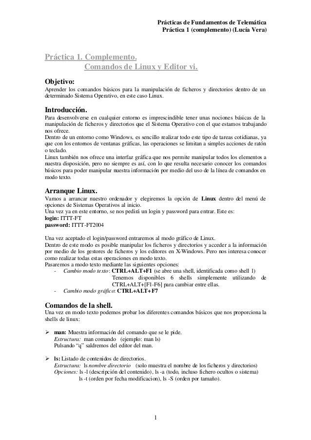 Prácticas de Fundamentos de Telemática                                                     Práctica 1 (complemento) (Lucía...