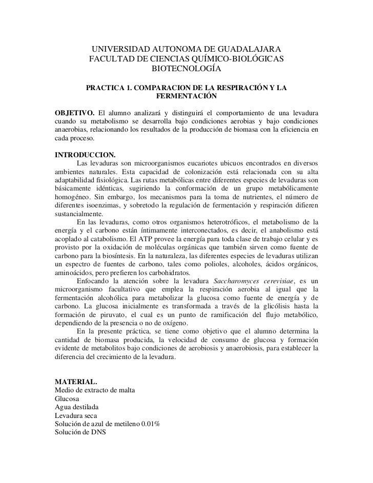 UNIVERSIDAD AUTONOMA DE GUADALAJARA            FACULTAD DE CIENCIAS QUÍMICO-BIOLÓGICAS                         BIOTECNOLOG...